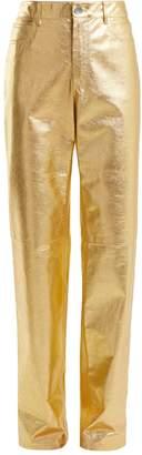 Calvin Klein Straight-leg leather trousers