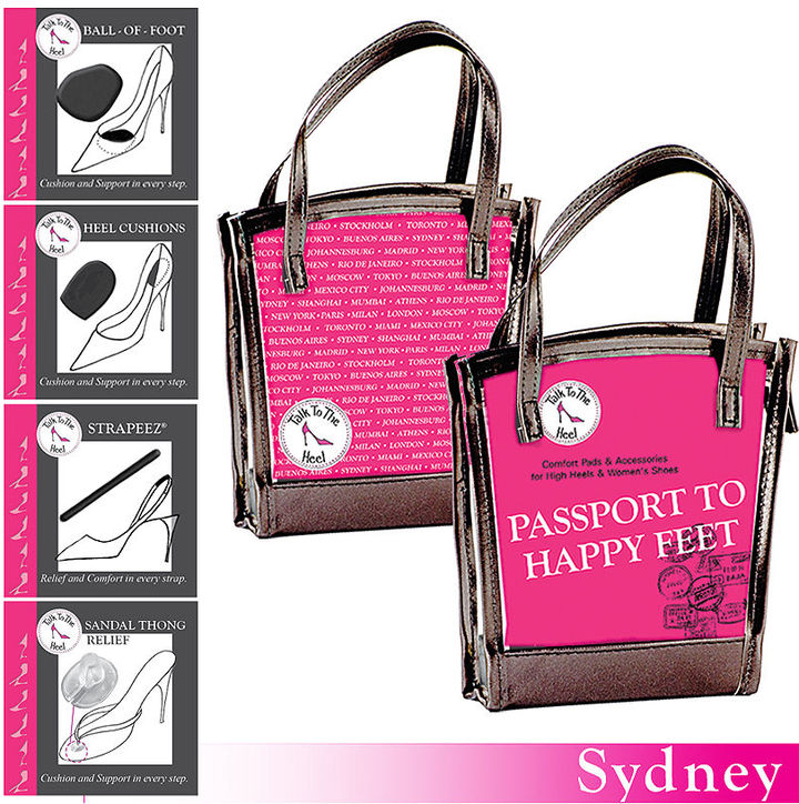 Braza Talk to the Heel Passport to Happy Kit- Sydney- All in one convenient kit, Black 1 ea