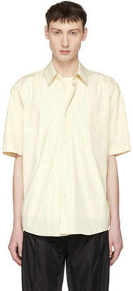 Our Legacy Yellow Short Sleeve Stripe Initial Shirt