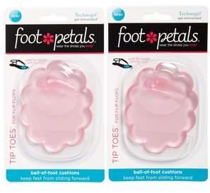 Foot Petals Tip Toes for Flip Flops 2-Pack