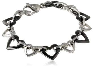 Stainless Steel and Ceramic Bracelet