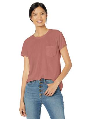 Goodthreads Amazon Brand Women's Washed Jersey Cotton Pocket Crewneck T-Shirt