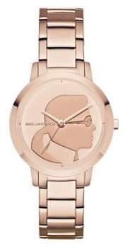 Karl Lagerfeld Camille Stainless Steel Three-Hand Bracelet Watch