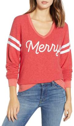 Wildfox Couture Merry Sport Baggy Beach V-Neck Pullover