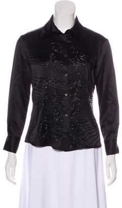 Versace Beaded Silk Top