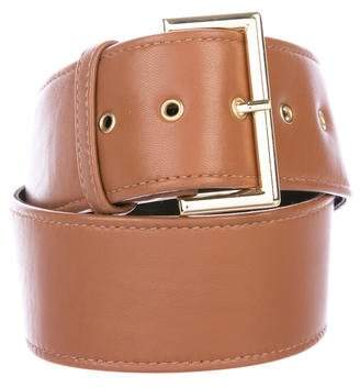 Christian Siriano Leather Wide Belt