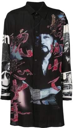 Yohji Yamamoto graphic print shirt