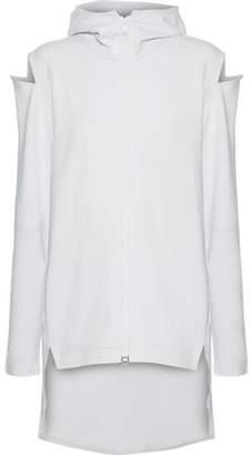 Y-3 +adidas Cocoon Cold-Shoulder Cotton Hooded Jacket