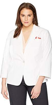 Rafaella Women's Plus Size Weekend Getaway Blazer