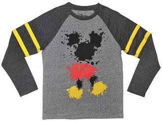DISNEY MICKEY MOUSE Disney Long Sleeve Crew Neck Mickey Mouse T-Shirt Boys