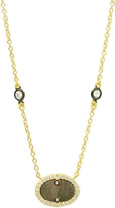 Freida Rothman Color Theory Pave Crystal Pendant Necklace