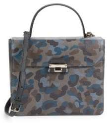 Furla Chiara Camo Leather Top Handle Bag