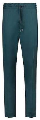 HUGO BOSS Tapered-fit trousers in virgin wool with natural stretch