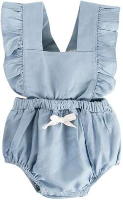 Putars Baby Clothing Toddler Boys&Girls' Summer Bowknot Rompers Outfits