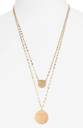 Canvas Jewelry Layered Disc Necklace
