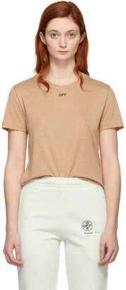 Off-White Off White Pink Off Basic T-Shirt