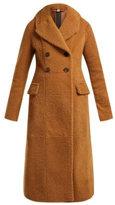 Burberry Levesham Tan Lambskin Shearling Coat - Womens - Beige