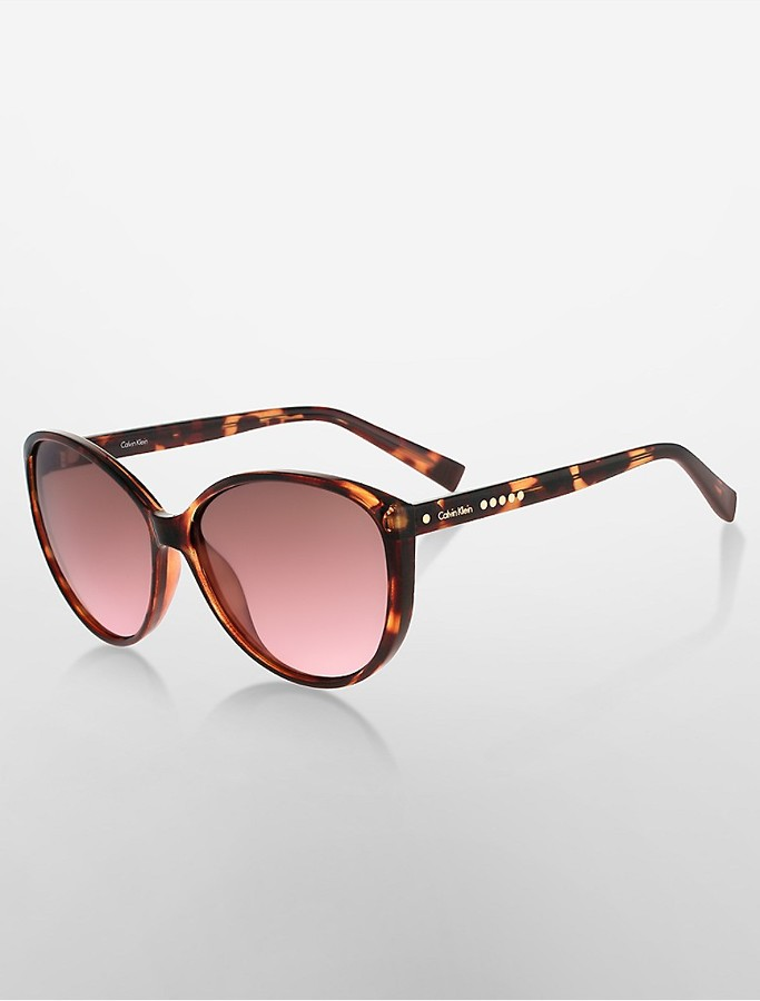 Calvin KleinStudded Cat Eye Sunglasses