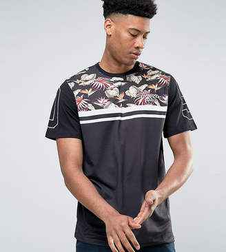 Jacamo TALL T-Shirt With Palm Print In Navy