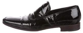 Saint Laurent Patent Leather Square-Toe Loafers