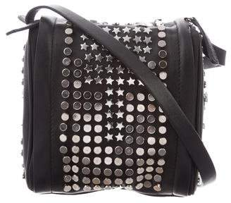 Diesel Black Gold Embellished Sirius Crossbody Bag