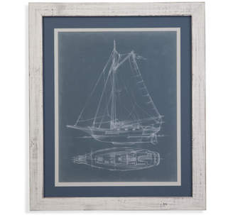 Bassett Mirror Yacht Sketches IV Framed Painting Print