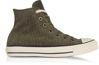 Converse Limited Edition Chuck Taylor All Star Hi Military Green Corduroy High Top Sneakers