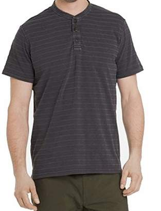 G.H. Bass & Co. Men's Jack Mountain Textured Jersey Short Sleeve Henley