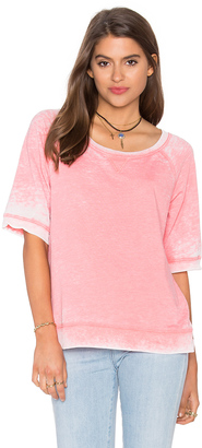 Splendid Burnout Active Short Sleeve Sweatshirt $98 thestylecure.com