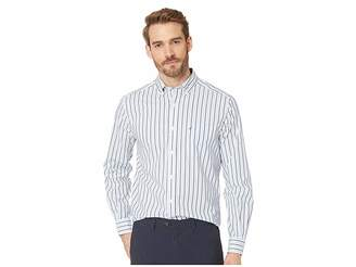 Nautica Long Sleeve Blue Stripe Shirt