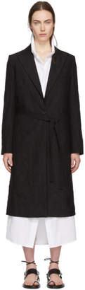 Ann Demeulemeester Black Wrinkled Peyton Coat
