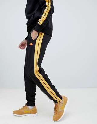Ellesse Cassed Sweatpants With Side Stripe In Black