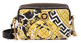 Versace Women's Quilted Leather Camera Bag