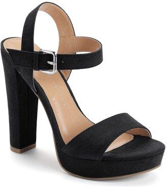 LC Lauren Conrad Bow Women's High Heel Sandals $59.99 thestylecure.com
