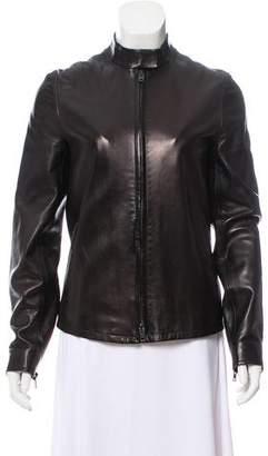 Reed Krakoff Leather Zip-Up Jacket