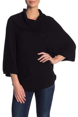Splendid Cowl Neck 3\u002F4 Sleeve Sweater