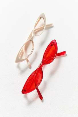 Urban Outfitters Bella Slim Oval Sunglasses