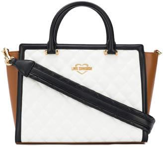 Love Moschino colour block tote bag
