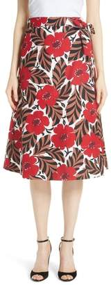 Kate Spade poppy field wrap skirt