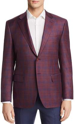 Canali Plaid Regular Fit Sport Coat
