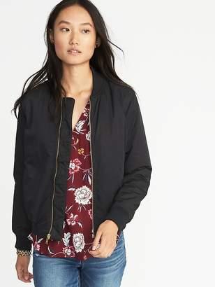 Old Navy Satin Zip Bomber Jacket for Women