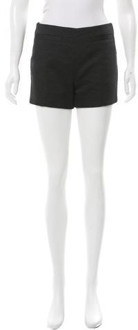 CarvenCarven High-Rise Textured Shorts