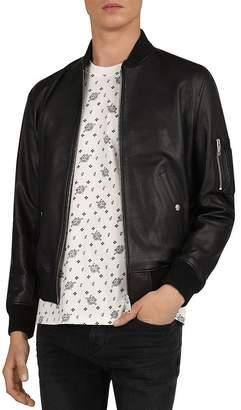 The Kooples California Leather Bomber Jacket