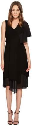 Yigal Azrouel Asymmetric Ruffle Sleeveless Dress Women's Dress