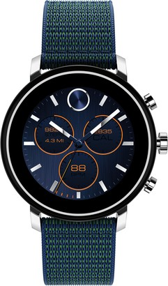 Movado Bold Connect Chronograph Woven Strap Smart Watch, 42mm