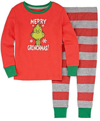 Asstd National Brand The Grinch 2 Piece Pajama Set - Girl's Toddler