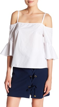 Kensie Cold-Shoulder Bell Sleeve Blouse $69 thestylecure.com