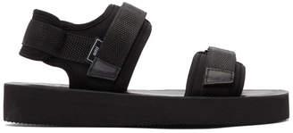 Ami Alexandre Mattiussi Black Neoprene Sandals
