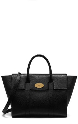 Mulberry Bayswater Grained Leather Satchel - Black $1,450 thestylecure.com