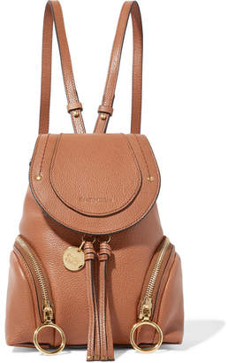 See by Chloe Olga Small Textured-leather Backpack - Tan